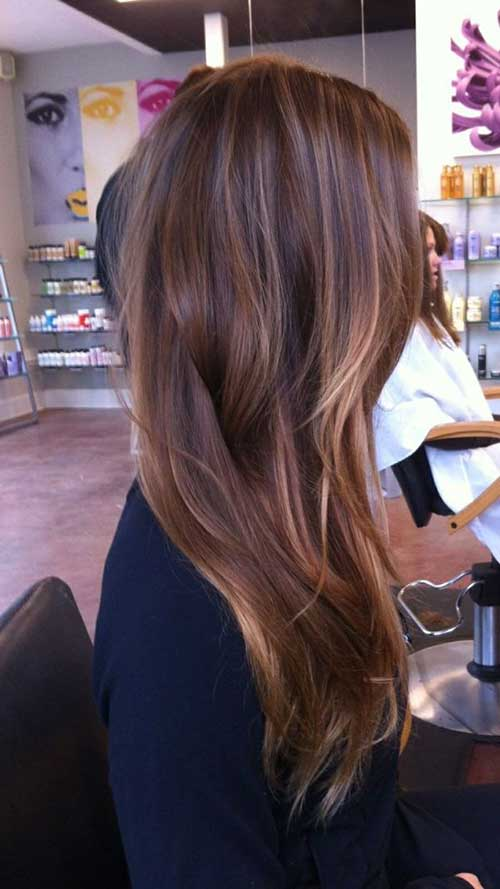 Caramel Balayage on Brown Hair Idea