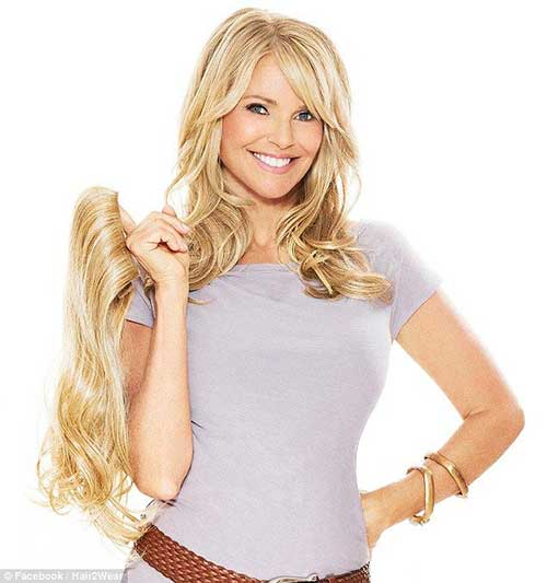 Christie Brinkley Long Hair Round Faces