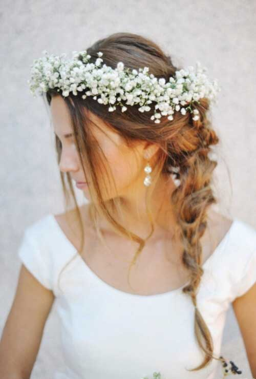 Cute Crown Wedding Hairstyles