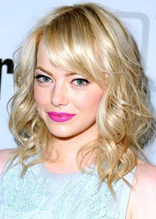 Emma Stone Hair with Bangs