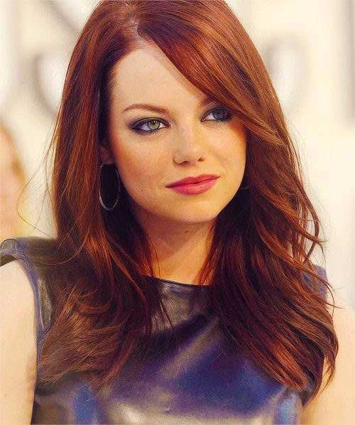 Emma Stone Hair Side Bangs