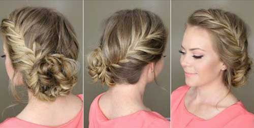 Fishtail Side Braid with Bun