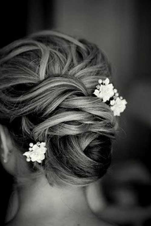 Flower Updo Hair Bun