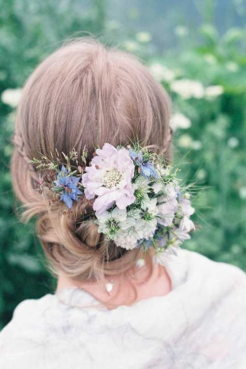Flowers In Hair for Wedding Images