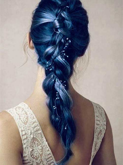 Best French Braid Blue Long Hairstyles
