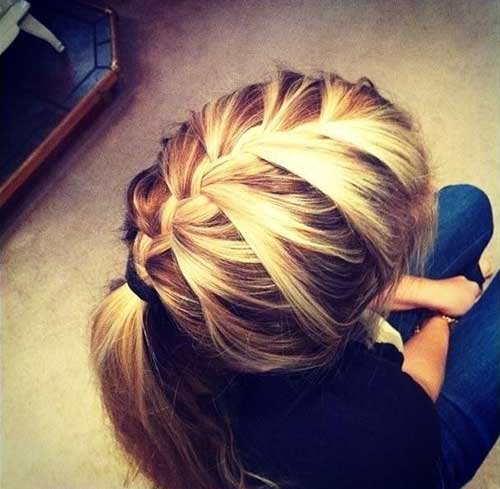 French Braid Long Hairstyles