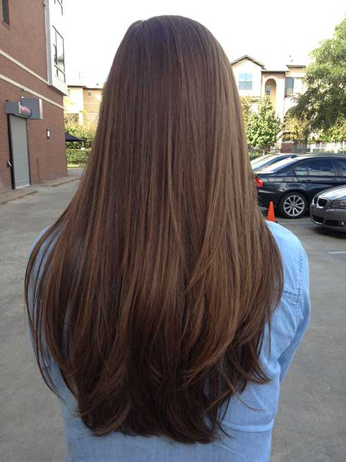 Girl Long Layered Hair Cut