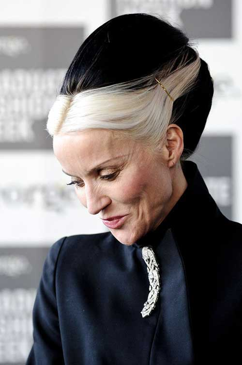 Cool Hair Updo for Older Women