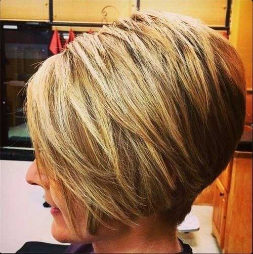 Short Angled Bob Hairstyles Over 40