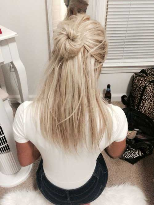 Half Bun Hairstyles