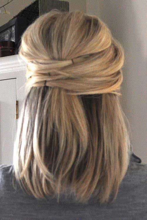 Straight Half Up Hairstyles Simple
