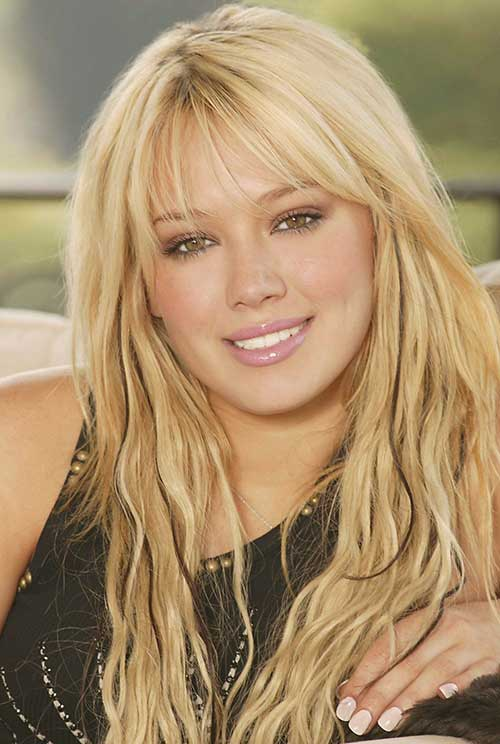 Hilary Duff Hairstyles with Bangs