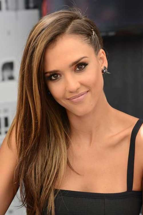 Jessica Alba Side Braid Hairstyles