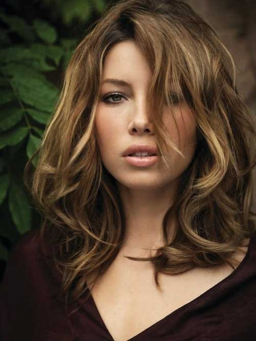 Jessica Biel Hairstyles for Brunettes