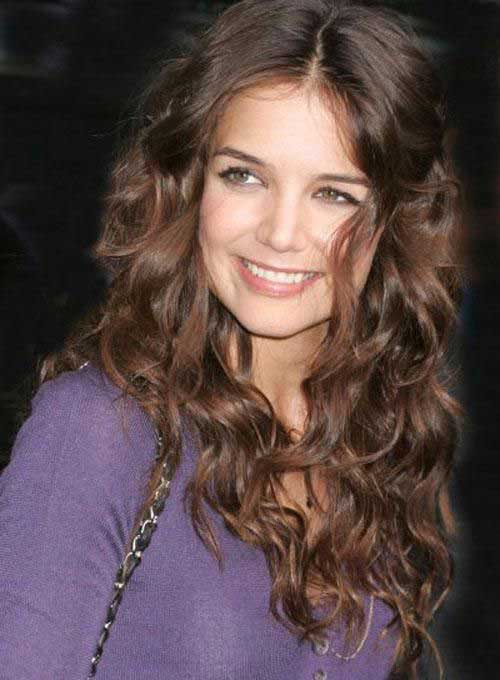 Katie Holmes Long Curly Hairstyles