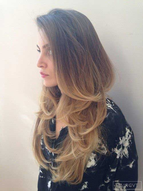 V Haircut With Layers Ombre | www.pixshark.com - Images ...