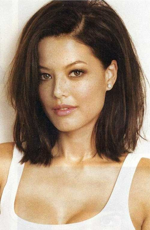 Long Brunette Bob Hairstyles for Thick Hair