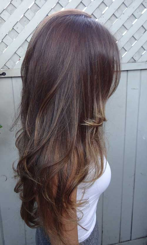 Thin Long Hair Highlights