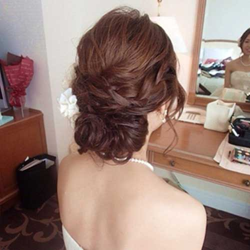 Low Updo Long Hairdos for Wedding