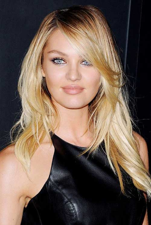 Long Thin Layered Side Bangs Hairstyles