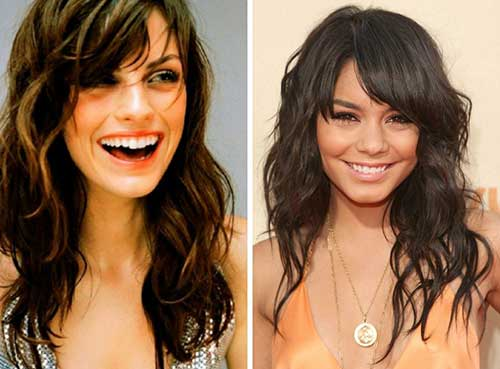Medium Length Hairstyles with Side Bangs for Oval Face