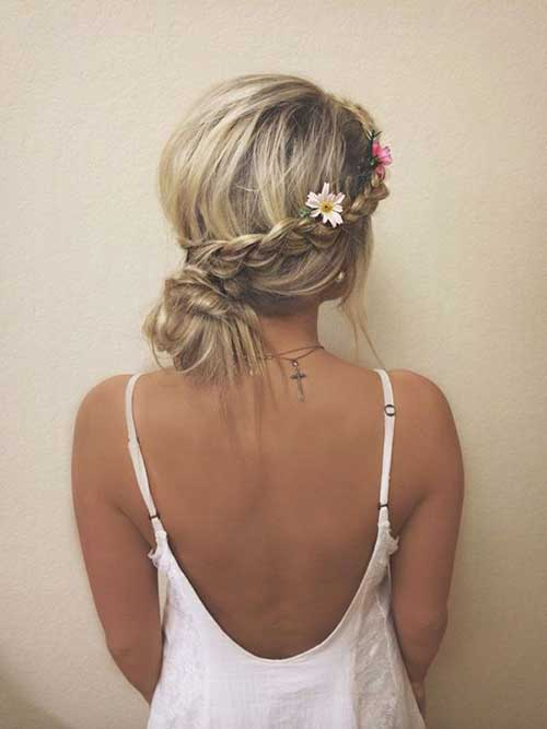Best Messy Bun with Braid