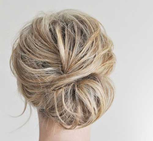 Gorgeous Messy Updos for Wedding