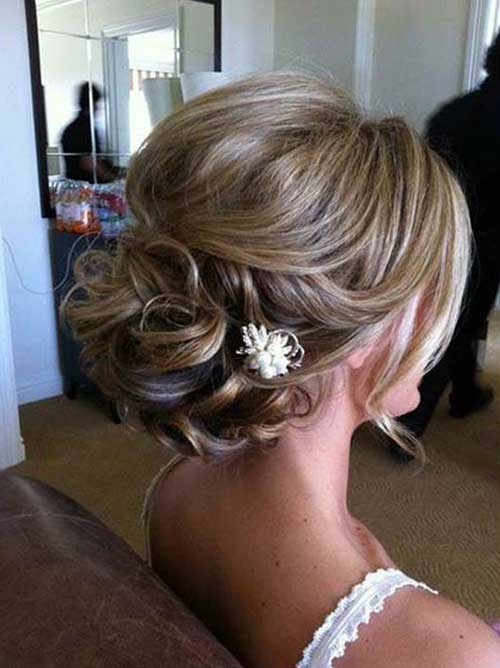 Messy Wedding Updo 2015