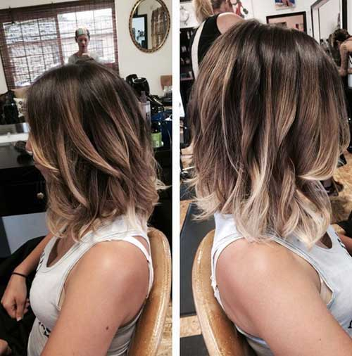 Middle Length Hair Highlights Styles