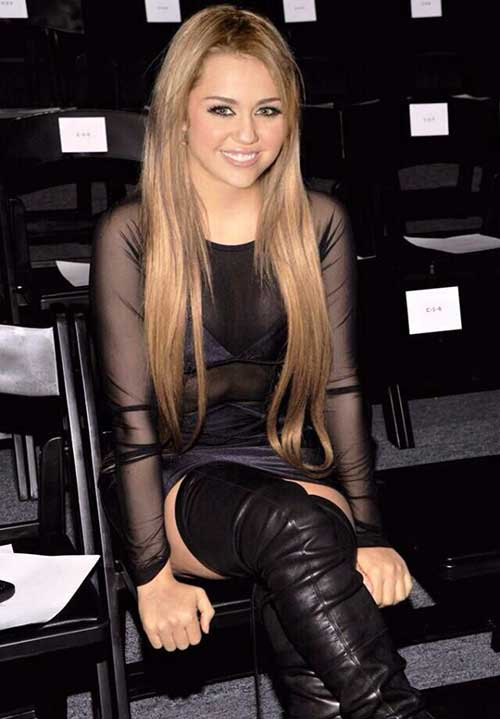 Miley Cyrus Chic Long Hair Cut