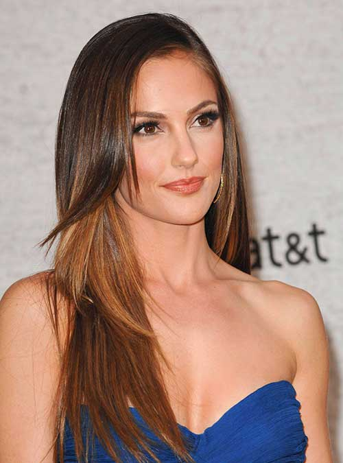 Minka Kelly Thin Long Hairstyles