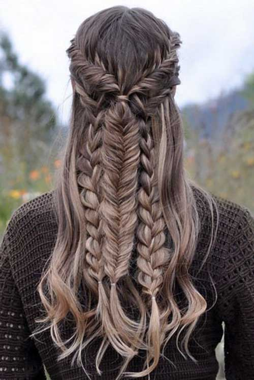 Mixed Braid Hairstyle 2015