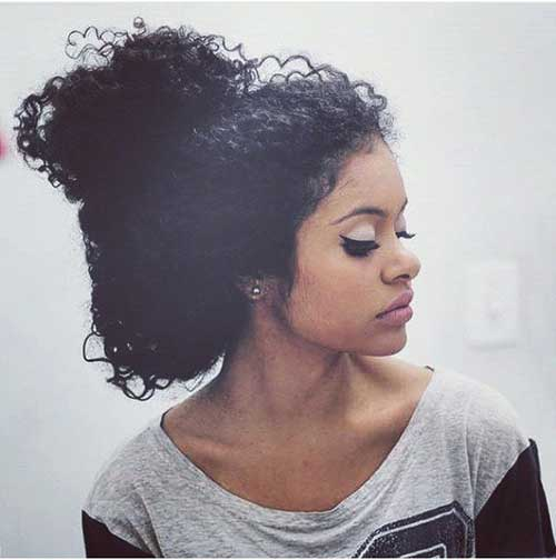 Astounding 10 Natural Curly Hairstyles For Black Hair Hairstyles Short Hairstyles For Black Women Fulllsitofus