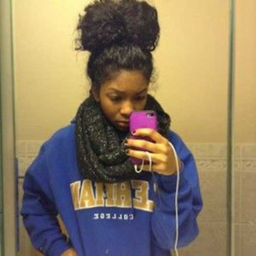 Natural Hair Top Knot for Girls