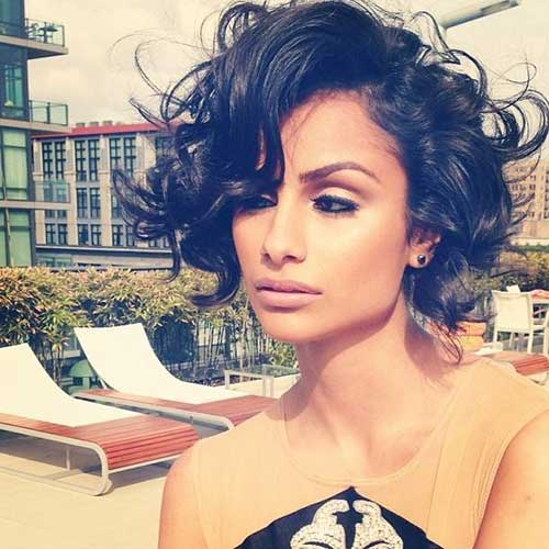 Nazanin Mandi Brunette Haircut