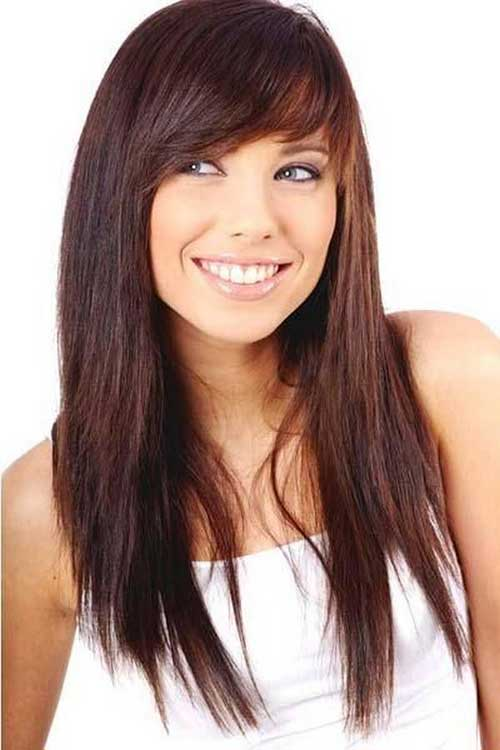 Magnificent Medium Hairstyles For Long Faces With Bangs Best Hairstyles 2017 Short Hairstyles Gunalazisus