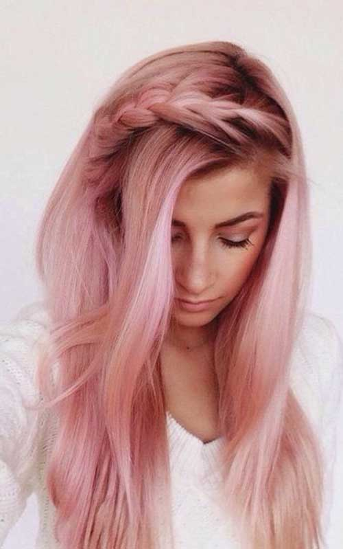 Rose Pink Hair Color Trend