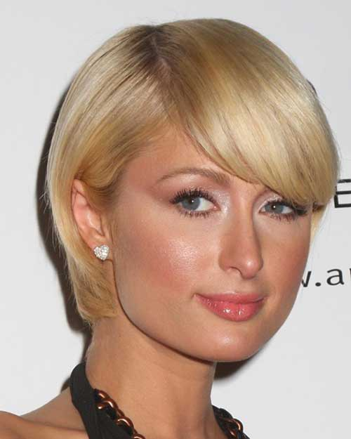 Round Faces Short Hairstyles for Thin Hair 2015