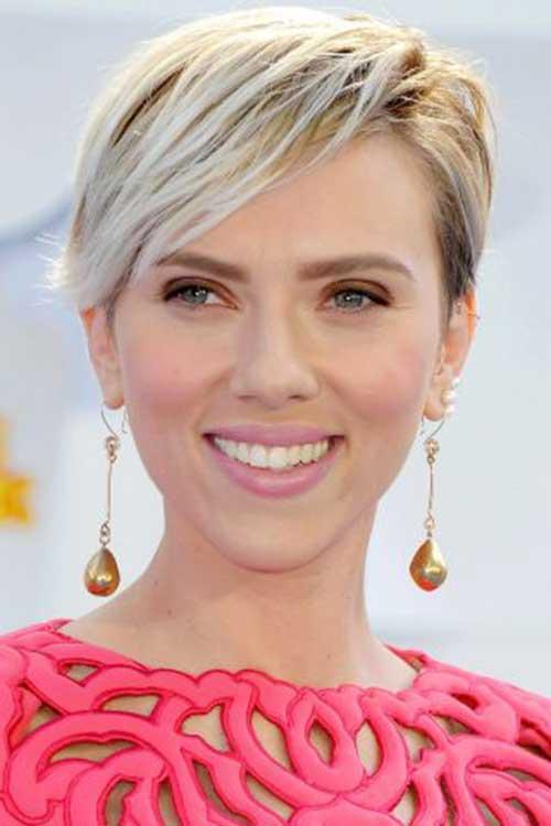 Scarlett Johansson Short Haircuts 2015