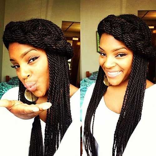 Senegalese Twist Hair Styles