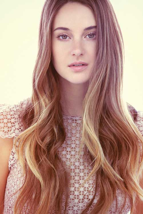 Shailene Woodley Long Thin Hair
