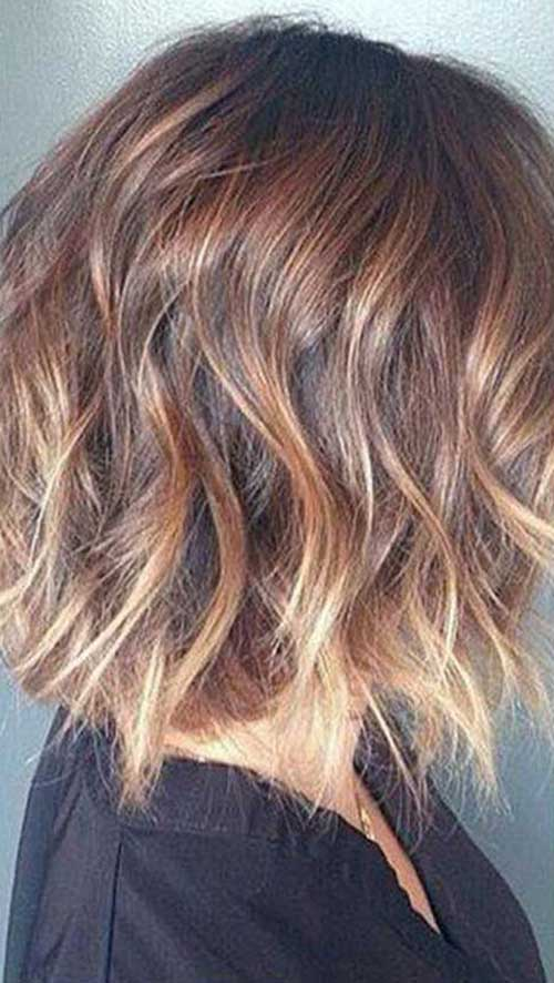 Short Blonde Ombre Fine Wavy Hair
