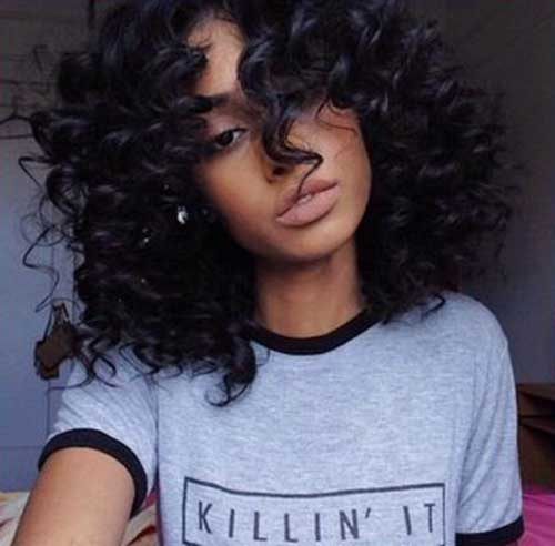 Short Curly Natural Black Hair