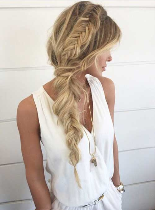 Simple Side Braid Hairstyles for Long Hair