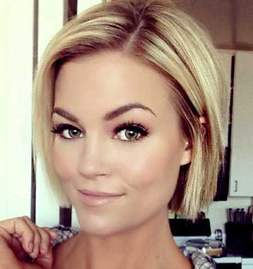 Simple Blonde Hairstyles with Straight Hair