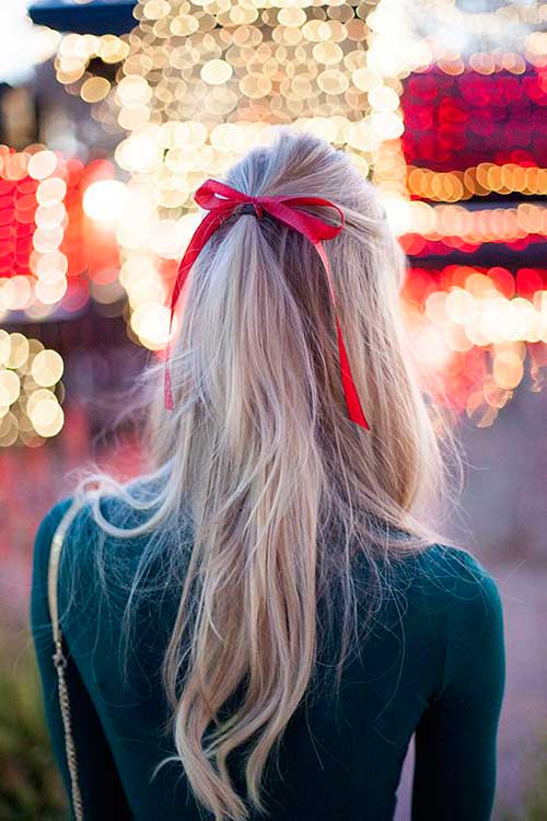 Best Simple Half Up Hair Ribbons