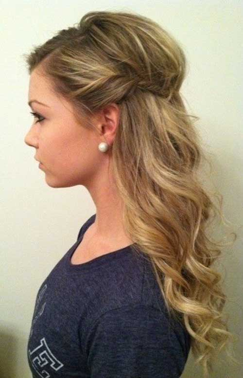 Simple Party Hairstyles for Teased Curly Hair