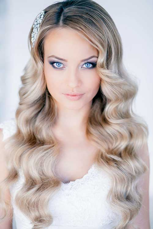 Simple Blonde Party Hairstyle For Long Hair
