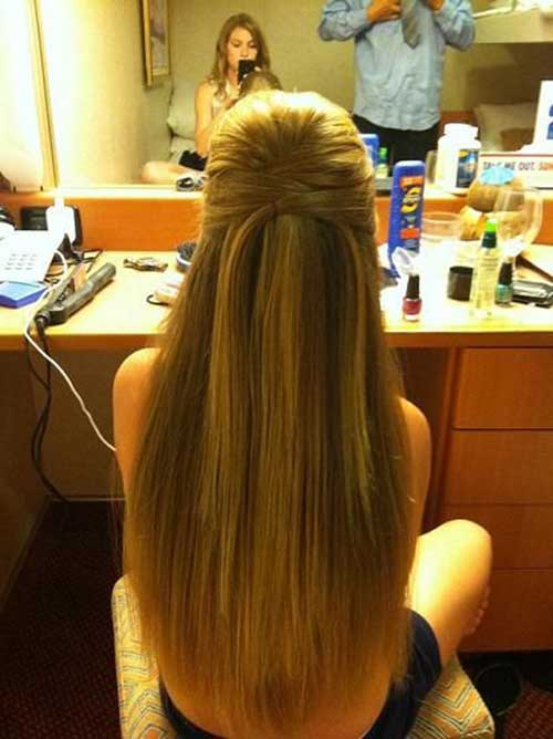 Straight Half Up Half Down Hair Formal Styles