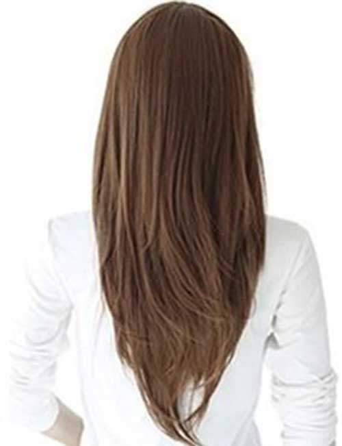Straight V Shape Layered Haircuts